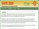 ಗೇಟ್ ಪರೀಕ್ಷೆ 2020: ಅರ್ಜಿ ಸಲ್ಲಿಕೆ ಮತ್ತು ಪ್ರಮುಖ ದಿನಾಂಕಗಳ ಪಟ್ಟಿ ಬಿಡುಗಡೆ