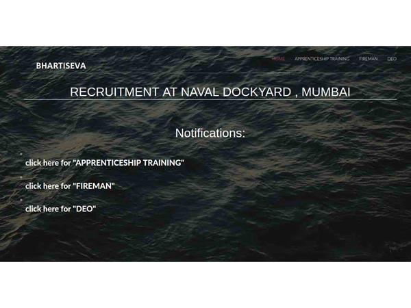 ಭಾರತೀಯ ನೌಕಾಪಡೆ ನೇಮಕಾತಿ 2018:ನಾವಾಲ್ ಡೋಕಿಯಾರ್ಡ್ಡ್ನಲ್ಲಿ ಅಪ್ರೇಂಟಿಸ್ ಹುದ್ದೆಗೆ ಅರ್ಜಿ ಆಹ್ವಾನ