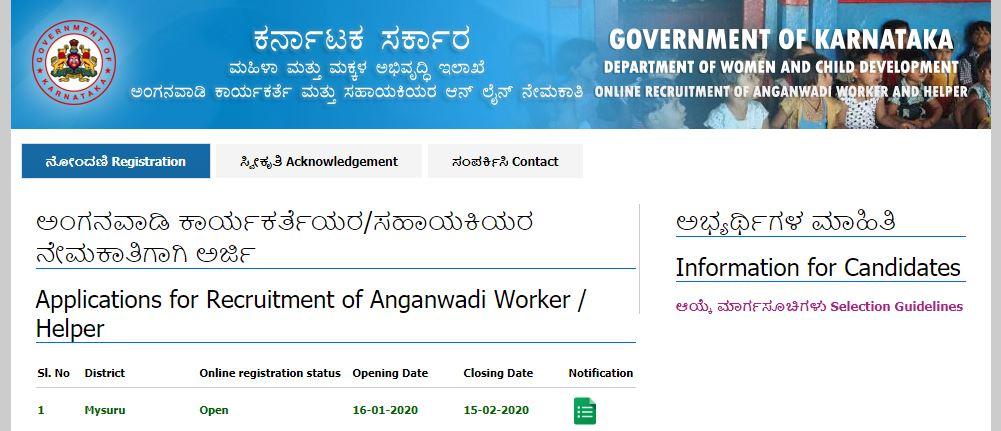ಮೈಸೂರು ಜಿಲ್ಲೆಯ ಅಂಗನವಾಡಿಯಲ್ಲಿ183 ಕಾರ್ಯಕರ್ತೆ ಮತ್ತು ಸಹಾಯಕಿ ಹುದ್ದೆಗಳಿವೆ