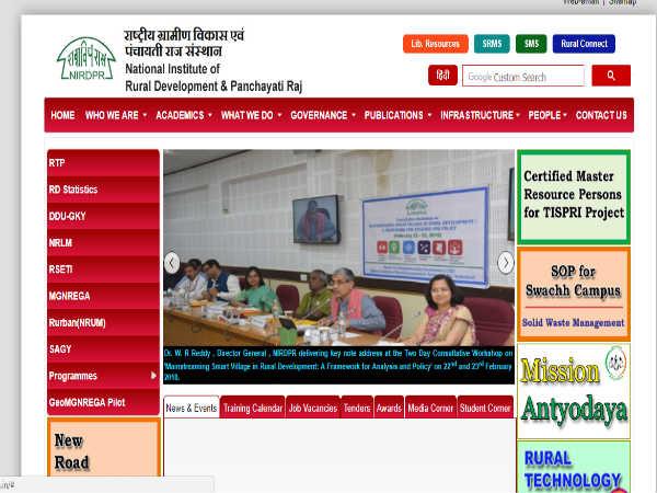 ಗ್ರಾಮೀಣಾಭಿವೃದ್ಧಿ ಹಾಗೂ ಪಂಚಾಯತ್ ರಾಜ್ ರಾಷ್ಟ್ರೀಯ ಸಂಸ್ಥೆಯಲ್ಲಿ 510 ಹುದ್ದೆಗಳಿವೆ