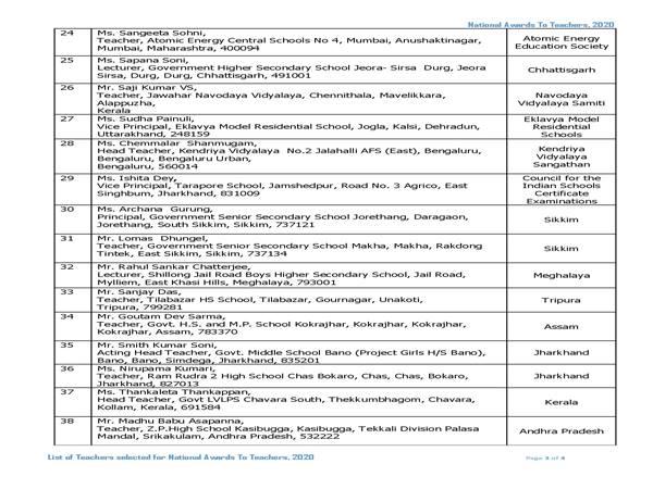 ಶಿಕ್ಷಕರ ದಿನಾಚರಣೆಯಂದು 47 ಶಿಕ್ಷಕರಿಗೆ ರಾಷ್ಟೀಯ ಪ್ರಶಸ್ತಿ: ಪಶಸ್ತಿ ಪಡೆಯುವವರ ಪಟ್ಟಿ