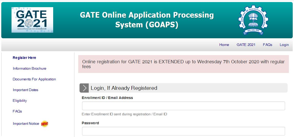 GATE 2021 Registration : ಅ.7ರ ವರೆಗೆ ಅರ್ಜಿ ಸಲ್ಲಿಕೆಯ ಅವಧಿ ವಿಸ್ತರಣೆ
