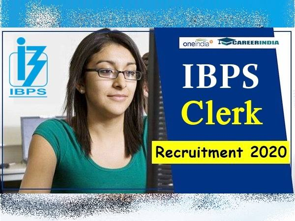 IBPS Clerk Recruitment 2020: 1557 ಕ್ಲರ್ಕ್ ಹುದ್ದೆಗಳಿಗೆ ಅರ್ಜಿ ಆಹ್ವಾನ..ನ.6ರೊಳಗೆ ಅರ್ಜಿ ಹಾಕಿ