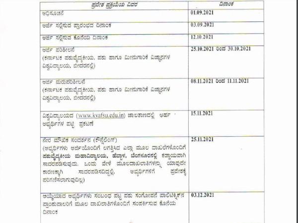 2021-22ನೇ ಸಾಲಿನ ಪಶುಸಂಗೋಪನಾ ಡಿಪ್ಲೋಮಾ ಕೋರ್ಸ್ ಗೆ ಅರ್ಜಿ ಆಹ್ವಾನ