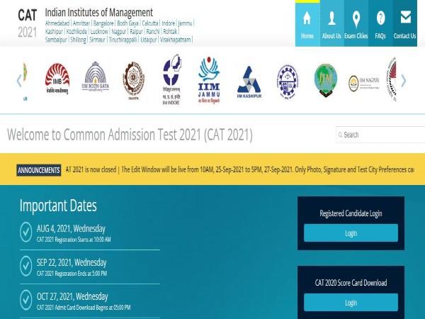 CAT Exam 2021 : ಪರೀಕ್ಷಾ ಪ್ರವೇಶ ಪತ್ರ ಅ.27ರಂದು ಪ್ರಕಟ ಸಾಧ್ಯತೆ
