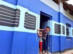 Kerala School Building Turns Train