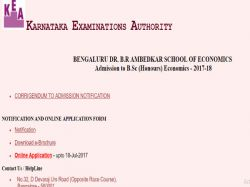 Base Admission To B Sc Honours Economics 2017