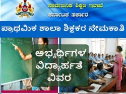 Higher Primary School Teachers Recruitment Educational Qualification