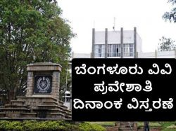 Bangalore University Distance Education Admission Dates Extended