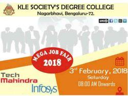 Mega Job Fair In Kle Society Degree College Bengaluru