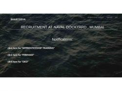 Indian Navy Recruitment 2018 For Apprenticeship At Naval Dockyard