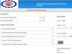 Epfo Admit Card For Assistants Prelims Exam 2019 Released