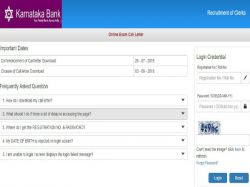 Karnataka Bank Online Exam Admit Card 2019 Released For Prob