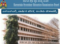 Sslc Examination Final Time Table Released