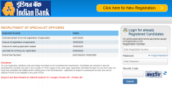 Indian Bank Recruitment 2020 For 138 Specialist Officer Posts