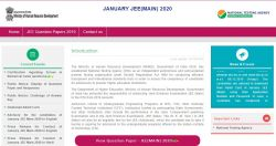 Jee 2020 Main Exam Answer Key Released