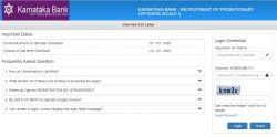 Karnataka Bank Po Interview Admit Card 2020 Released