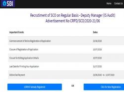 Sbi So Recruitment 2020 For Deputy Manager Posts