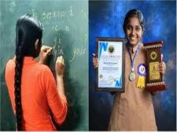 Year Old Girl From Mangaluru Can Write With Both Hands At The Same Time