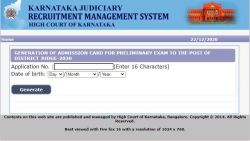 Karnataka High Court Prelims Admit Card 2020 Released For District Judge Posts