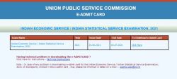 Upsc Ies Iss Admit Card 2021 Released How To Download Read On