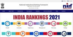 Nirf Ranking 2021 Full List Check Complete List Of Top Institutes In India