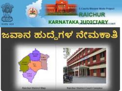 Raichur District Recruiting Peon Posts