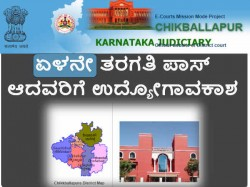 Chikballapur District And Sessions Court Recruiting Peon Posts