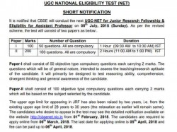 Ugc Net 2018 Modifications In Exam Pattern And Age Limit