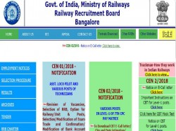 Rrb Group D 2018 Admit Card Released