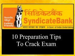 Preparation Tips For Syndicate Bank Specialist Officer Exam