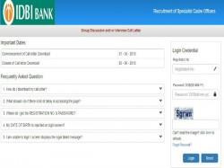 Idbi Bank Specialist Cadre Officer Interview Admit Card Rele