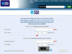 State Bank Of India 2019 Po Prelims Results Announced