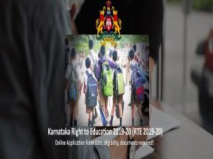 Rte Karnataka 2019 Application Form Date Eligibility Pat