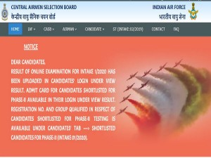Indian Air Force Airman Result 2019 Declared For Group X