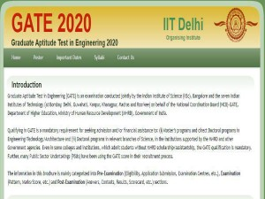 Gate 2020 Application Syllabus Exam Pattern