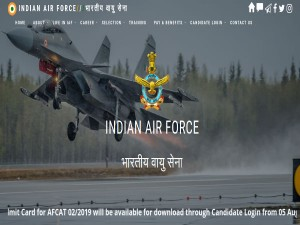 Afcat 2019 Online Exam Admit Card Released Today