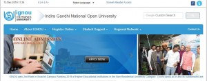 Ignou Admission Open For January 2020 Session