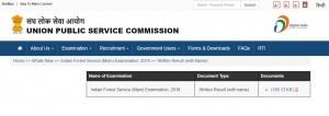 Upsc Ifs Main Exam Result 2019 20 Released