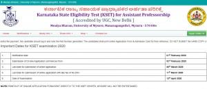 Kset Exam 2020 Online Application Last Date Extended