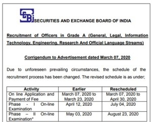 Sebi Recruitment 2020 For 147 Assistant Manager A Posts