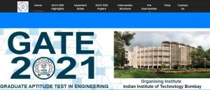 Iit Bombay Gate 2021 Exam Important Dates Released