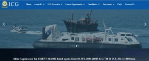 Indian Coast Guard Recruitment 2021 For 350 Navik And Yantrik Posts