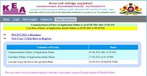 Kea Invited Applications For Pgcet 2021 Apply Before September 17