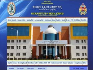 Rims Raichur Recruitment 2021 For 12 Teaching Posts